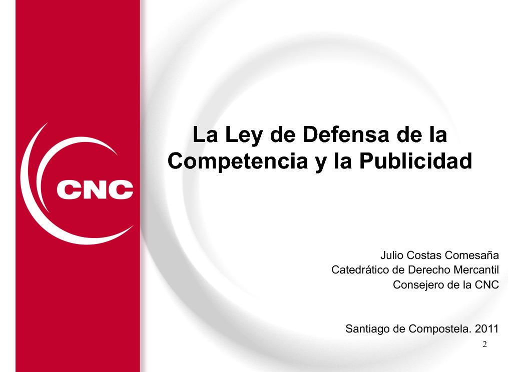 A Lei de defensa da competencia e a publicidade